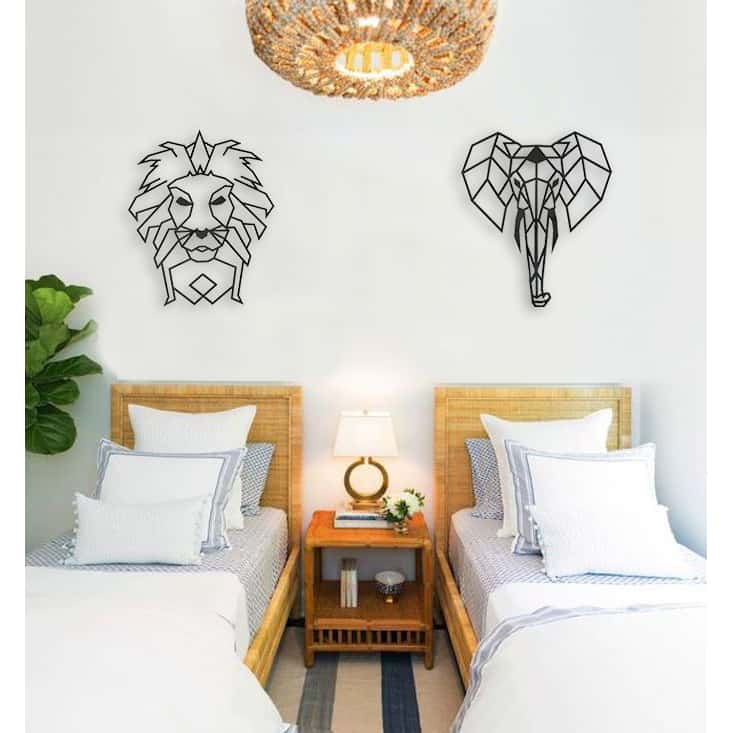 Elephant and lion kids room inspiration