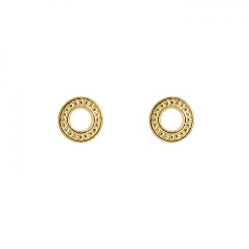 14k gold vermeil beaded studs